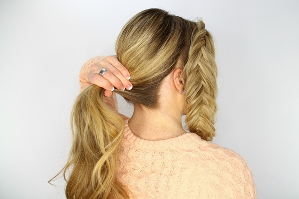 Wedding Day Hairstyles: Fishtail Braid Wrapped Bun Tutorial In Most Recently Wrapping Fishtail Braided Hairstyles (View 20 of 25)