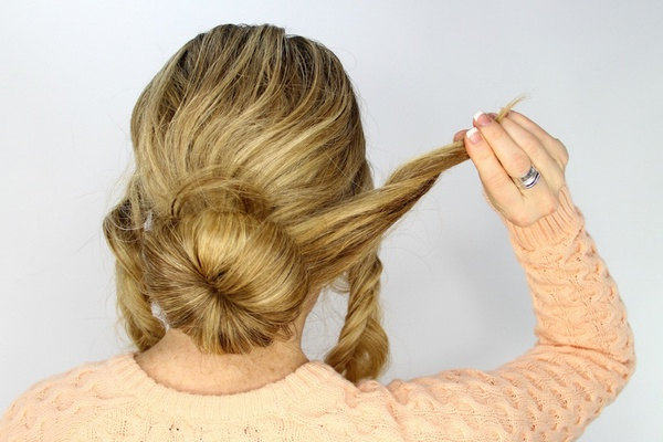 Wedding Day Hairstyles: Fishtail Braid Wrapped Bun Tutorial Within Recent Braided And Wrapped Hairstyles (View 10 of 25)