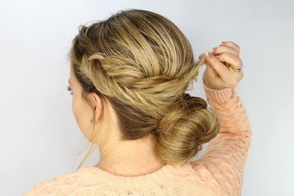 Wedding Day Hairstyles: Fishtail Braid Wrapped Bun Tutorial Within Recent Wrapping Fishtail Braided Hairstyles (View 6 of 25)