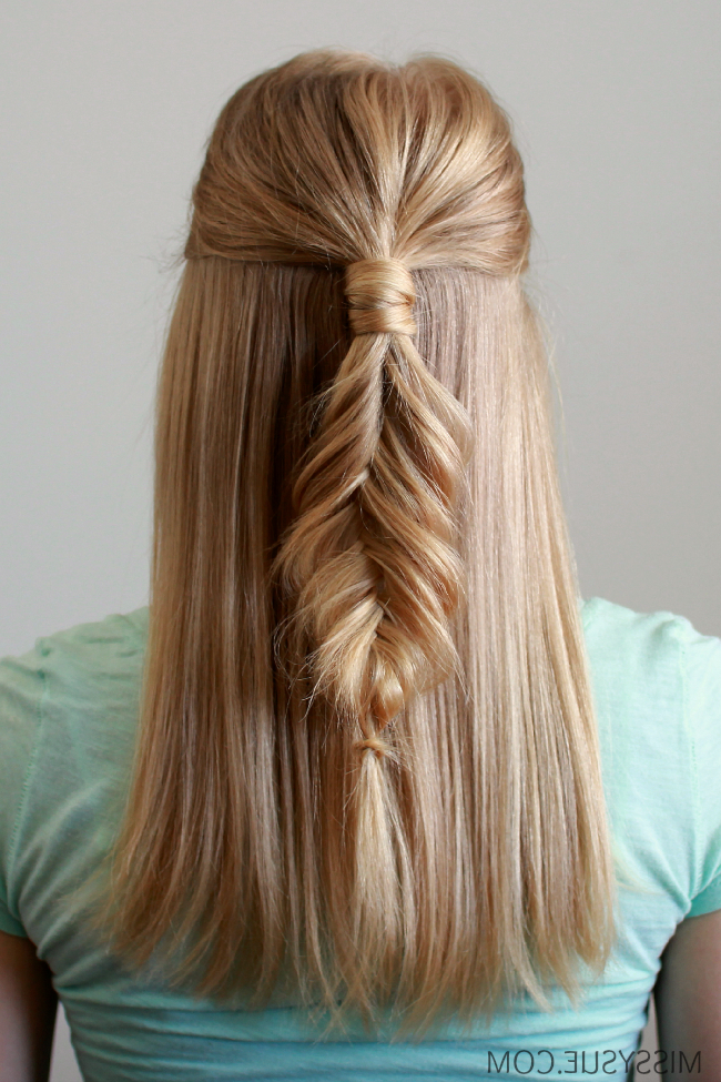 Wrapped Half Up Fishtail Braid | Women's World | Long Hair In Recent Wrapping Fishtail Braided Hairstyles (View 7 of 25)