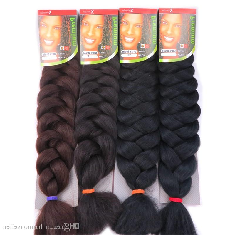 X Pression Ultra Braids Hair Extensions 82 Inch 165G Synthetic Hair Extension Jumbo Braid X Pression Hair Multicolor Regarding Best And Newest Multicolored Extension Braid Hairstyles (View 21 of 25)