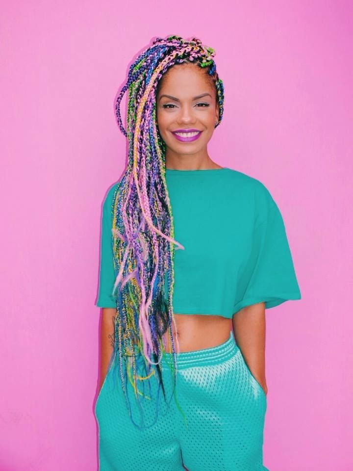 Yarn Braids (8) – Glamorous Hairstyles Intended For Latest Long Braids With Blue And Pink Yarn (View 24 of 25)