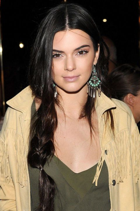 10 Chic Ways To Wear A Middle Part | Beauty & Hair | Jenner Intended For Most Recently Center Part Braided Hairstyles (View 23 of 25)