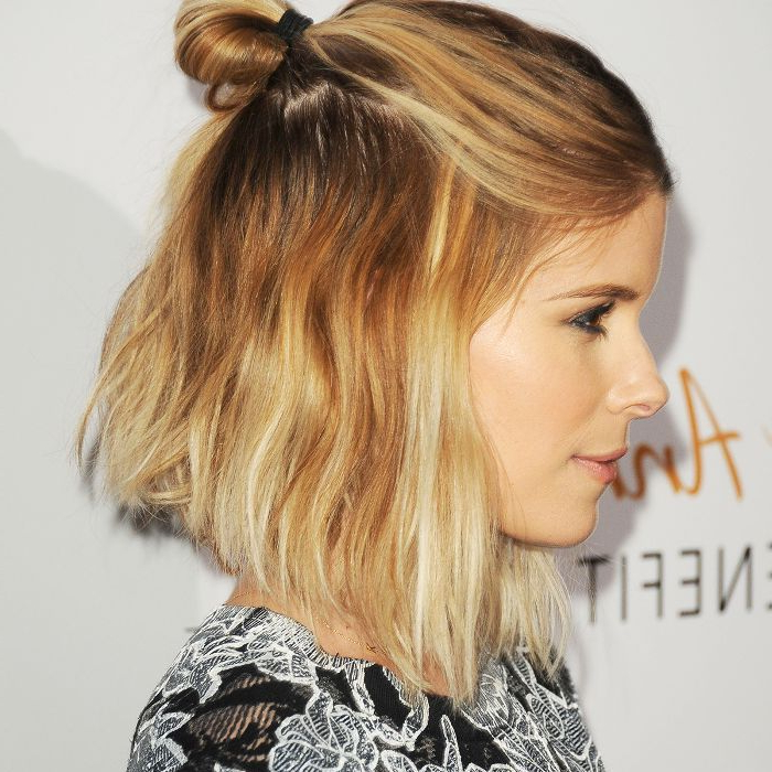 10 Cool (And Easy) Buns That Work For Short Hair Pertaining To Double Mini Buns Updo Hairstyles (View 18 of 25)