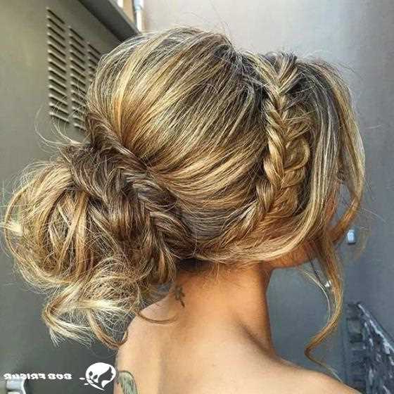 10 Gorgeous Upstyles For Bridesmaids 2019 2020 – Mody Hair Pertaining To Teased Fishtail Bun Updo Hairstyles (View 8 of 25)