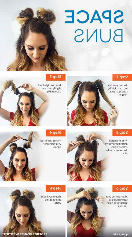 10 Perfect Grey Hair | Hair | Space Buns Hair, Bun With Regard To Double Mini Buns Updo Hairstyles (View 14 of 25)
