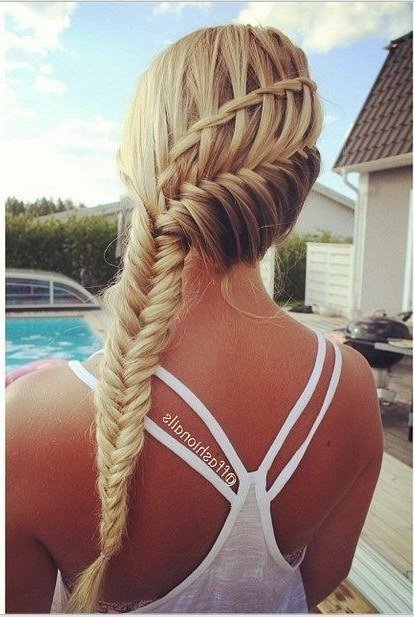 10 Pretty Waterfall French Braid Hairstyles 2019 With Most Recent Asymmetrical French Braided Hairstyles (View 8 of 25)