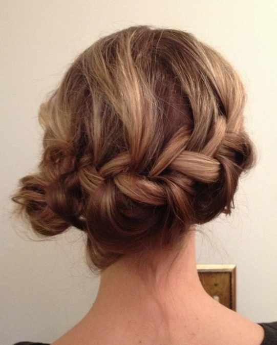 10 Side Bun Tutorials: Low, Messy And Braids Updos – Pretty With Regard To French Braid Buns Updo Hairstyles (View 12 of 25)