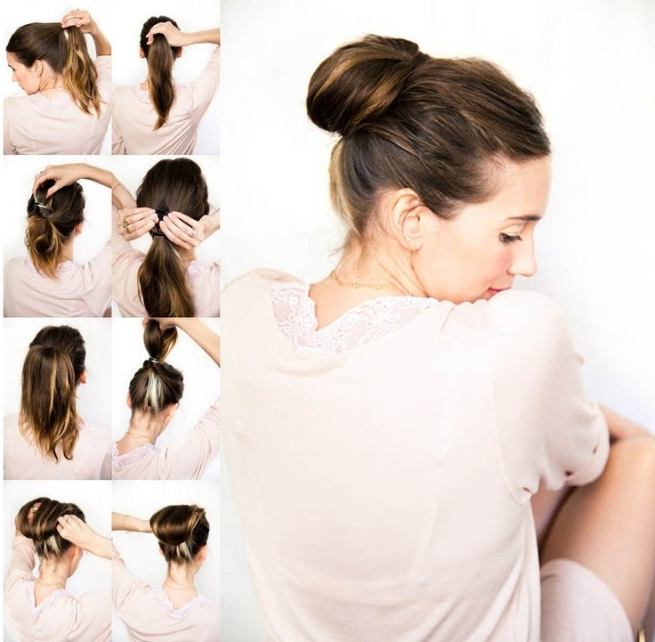 10 Super Easy Updo Hairstyles Tutorials – Popular Haircuts Inside High Volume Donut Bun Updo Hairstyles (View 21 of 25)
