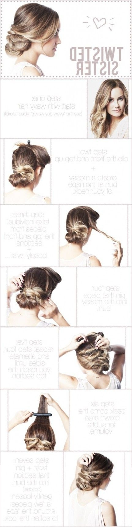 10 Super Easy Updo Hairstyles Tutorials – Popular Haircuts Intended For High Volume Donut Bun Updo Hairstyles (View 16 of 25)