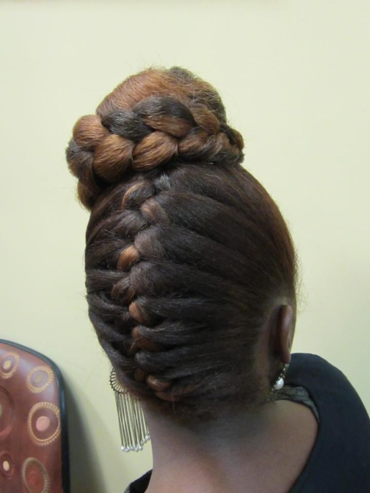 10 Swoon Worthy Braids For African American Women | Kinks Throughout Reverse French Braid Bun Updo Hairstyles (View 8 of 25)