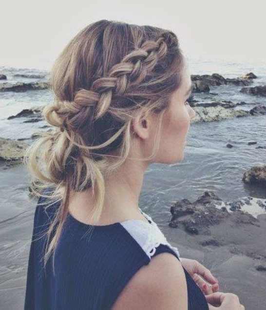 10 Trendy Messy Braid Bun Updos | Health And Beauty | Hair Within French Braid Buns Updo Hairstyles (View 19 of 25)