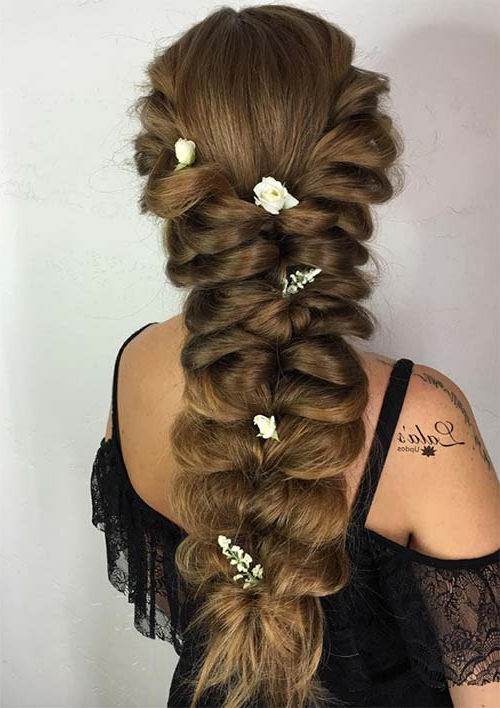 100 Ridiculously Awesome Braided Hairstyles To Inspire You For Most Recent Loosely Tied Braided Hairstyles With A Ribbon (View 6 of 25)