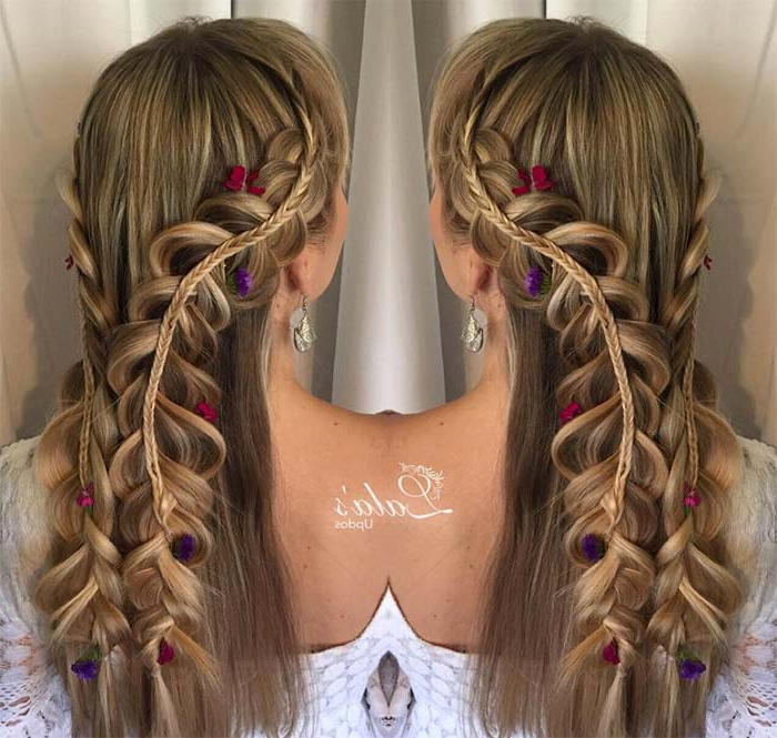 100 Ridiculously Awesome Braided Hairstyles To Inspire You With Regard To Newest Loosely Tied Braided Hairstyles With A Ribbon (View 3 of 25)