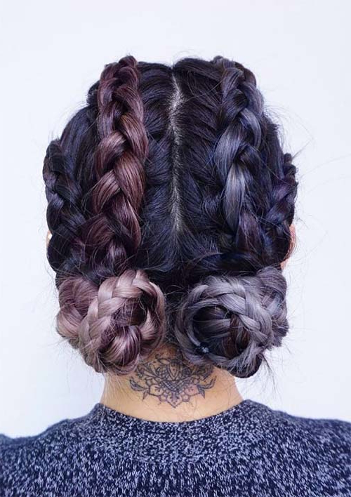 100 Ridiculously Awesome Braided Hairstyles To Inspire You Within Most Popular Plaited Low Bun Braided Hairstyles (View 21 of 25)
