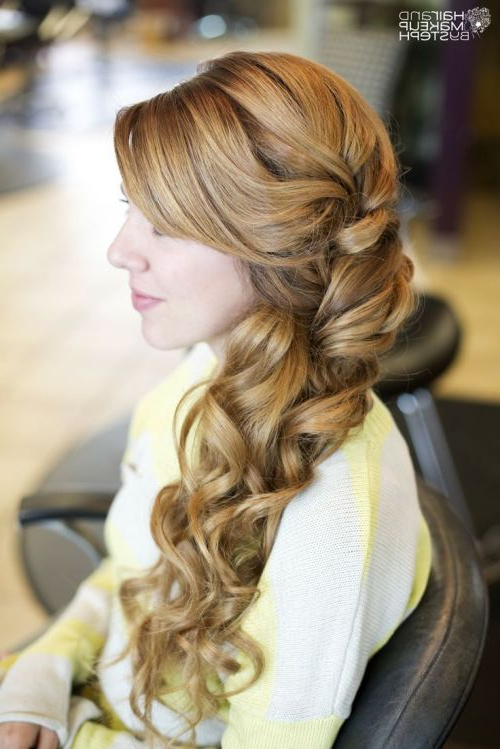 101 Chic Side Swept Hairstyles To Help You Look Younger – Part 2 With Side Swept Braid Updo Hairstyles (View 24 of 25)