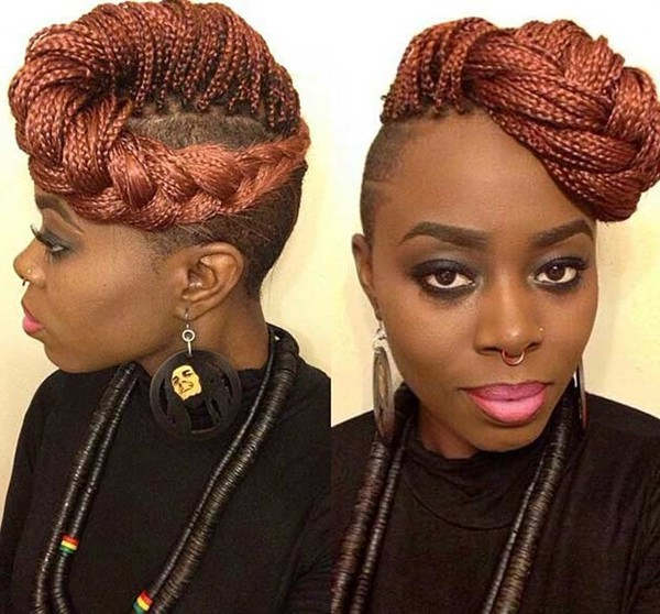 101 Micro Braids For You – Style Easily Pertaining To 2020 Micro Braids In Side Fishtail Braid (View 22 of 25)
