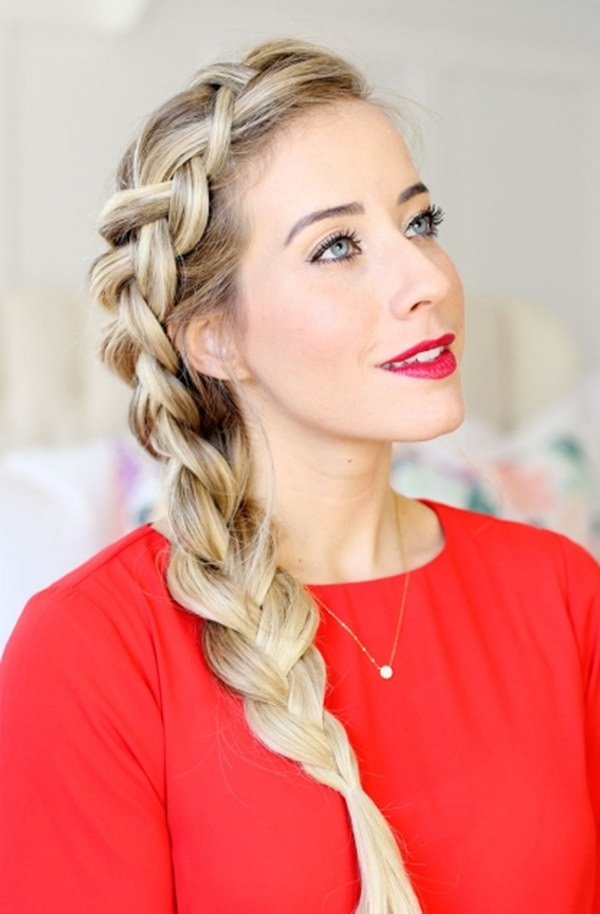101 Stunning Dutch Braids Hairstyles You Need To Try In Most Up To Date Three Strand Side Braided Hairstyles (View 7 of 25)