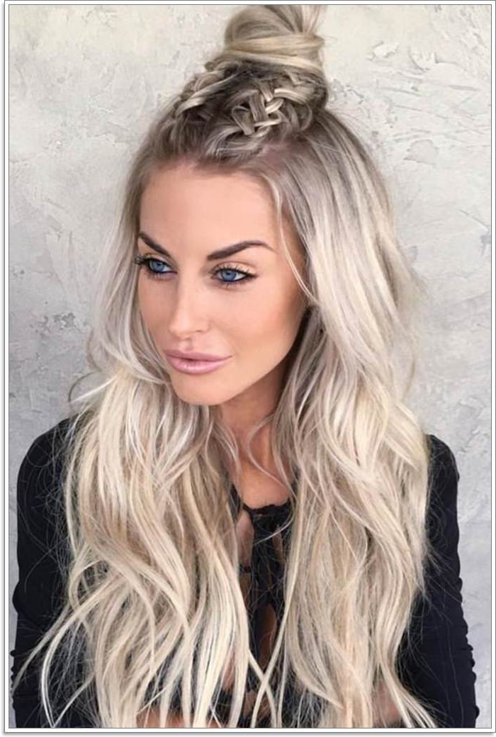 102 Best Diy Hairstyles For Long Hair For You With Regard To Topknot Hairstyles With Mini Braid (View 25 of 25)