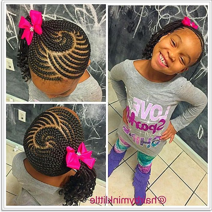 103 Adorable Braid Hairstyles For Kids Intended For Zig Zag Ponytail Updo Hairstyles (View 25 of 25)