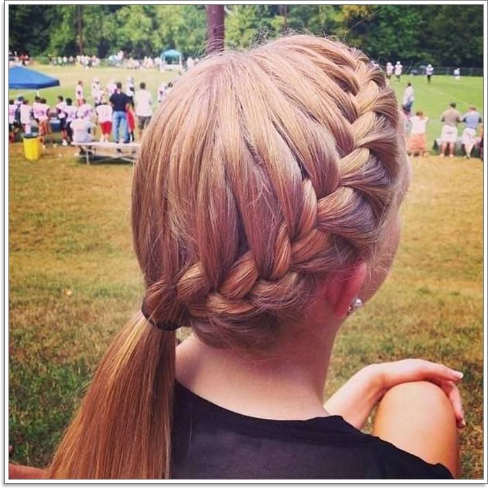 105 Lovely French Braid Hairstyles For You With Regard To Latest Braided Underside Hairstyles (View 22 of 25)