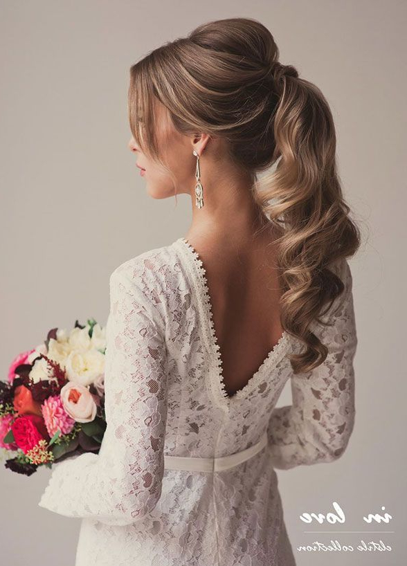 11 Effortlessly Romantic Wedding Hairstyles   Wedding For Romantic Ponytail Updo Hairstyles (View 13 of 25)