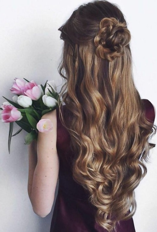 11 Half Up Half Down Curly Hairstyles To Try Without Any Doubt Intended For Curled Half Up Hairstyles (View 17 of 25)