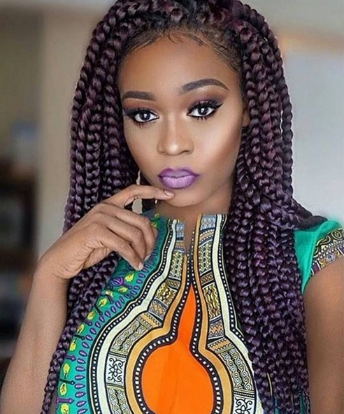12 Pretty African American Braided Hairstyles – Popular Haircuts Intended For Newest Center Part Braided Hairstyles (View 15 of 25)