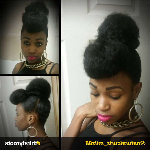 13 Natural Hair Updo Hairstyles You Can Create With Regard To Natural Bangs Updo Hairstyles (View 12 of 25)