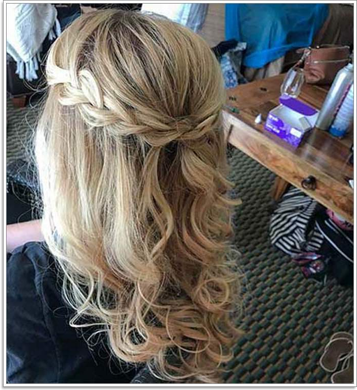 135 Whimsical Half Up Half Down Hairstyles You Can Wear For In Curled Half Up Hairstyles (View 12 of 25)