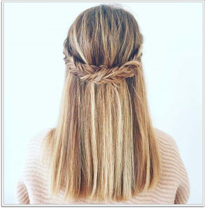 135 Whimsical Half Up Half Down Hairstyles You Can Wear For Intended For Latest Loosely Tied Braided Hairstyles With A Ribbon (View 17 of 25)
