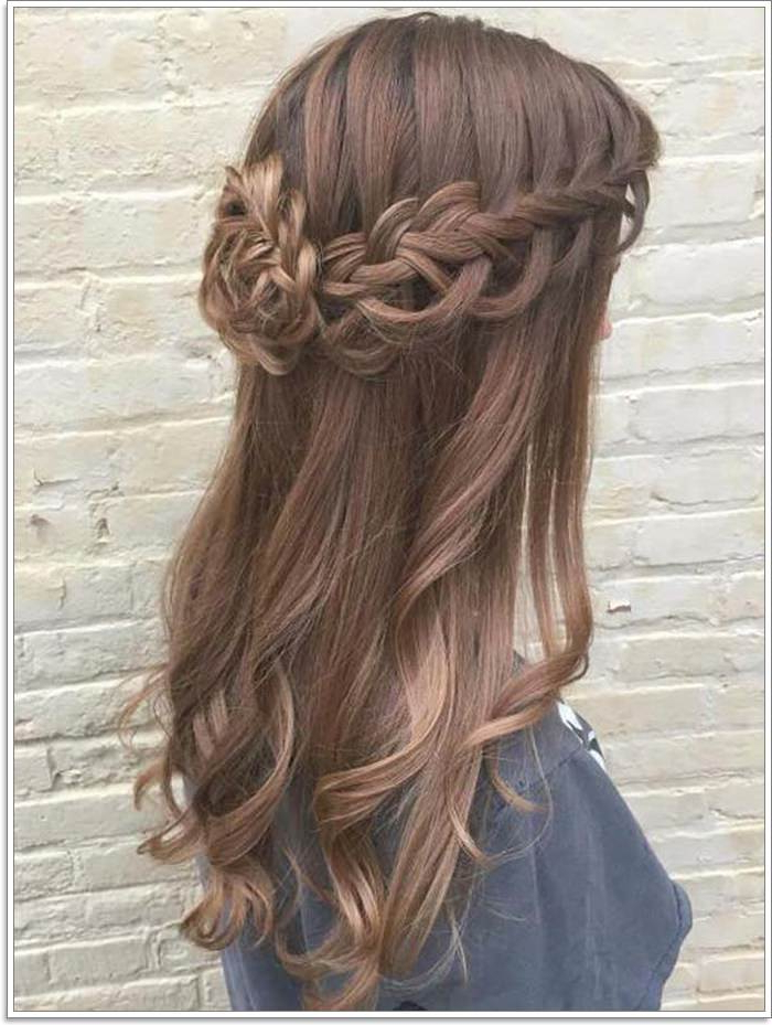135 Whimsical Half Up Half Down Hairstyles You Can Wear For Pertaining To Newest Loosely Tied Braided Hairstyles With A Ribbon (View 4 of 25)