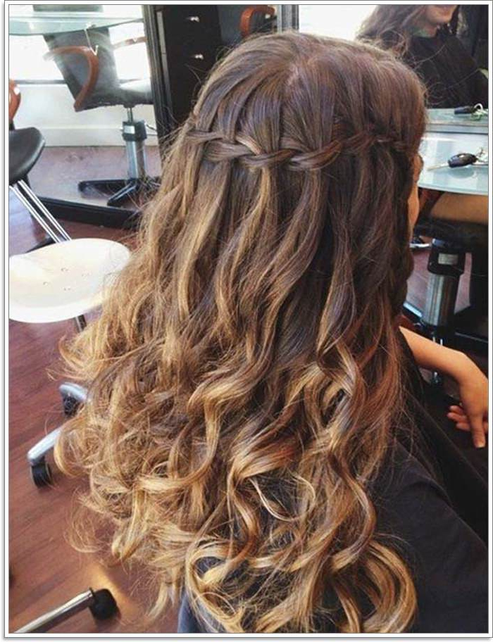 135 Whimsical Half Up Half Down Hairstyles You Can Wear For Regarding Curled Half Up Hairstyles (View 24 of 25)