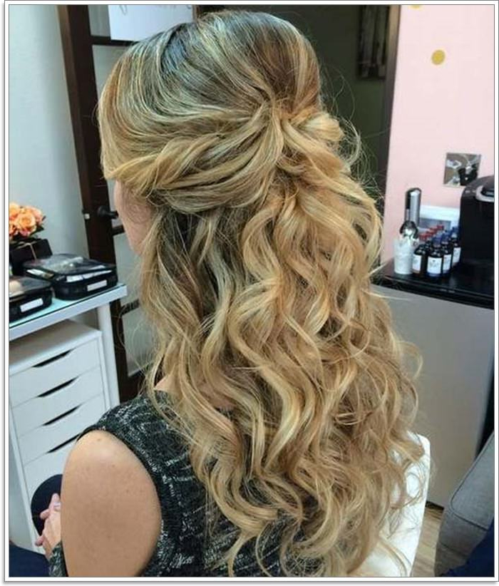 135 Whimsical Half Up Half Down Hairstyles You Can Wear For Regarding Curled Half Up Hairstyles (View 7 of 25)