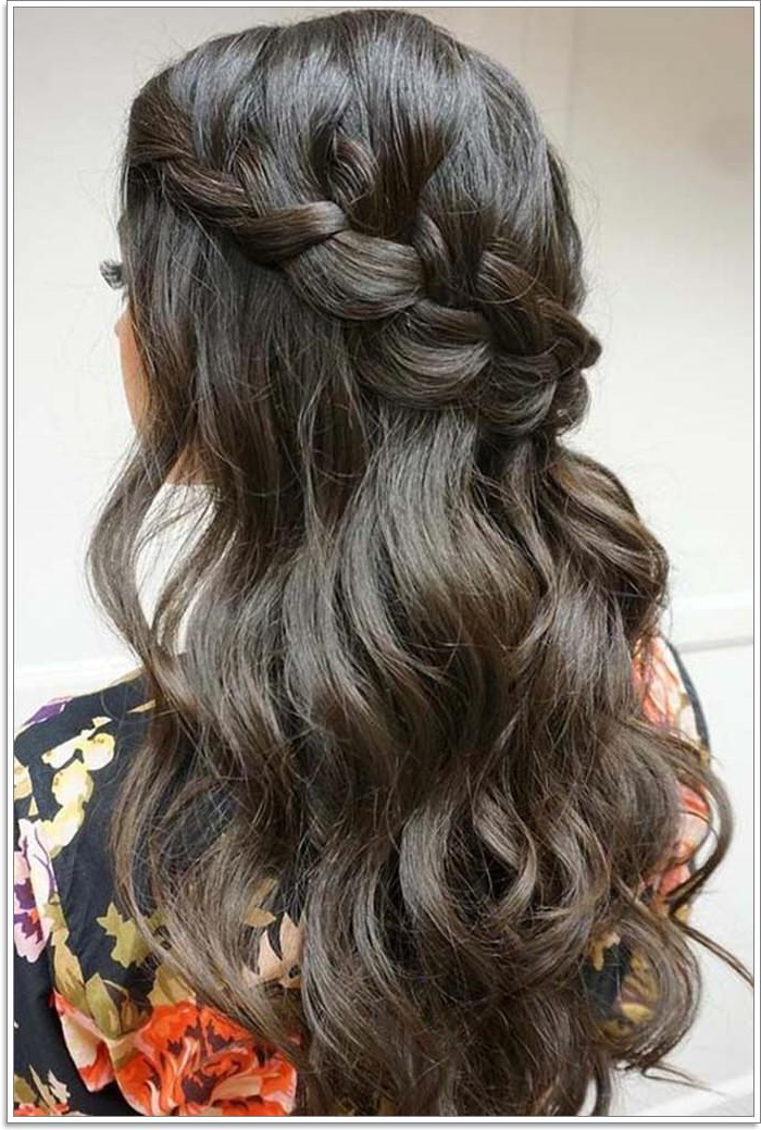 135 Whimsical Half Up Half Down Hairstyles You Can Wear For Throughout Curled Half Up Hairstyles (View 21 of 25)