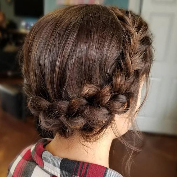 14 Braided Hairstyles – From Dutch To Crown | Wella Intended For Newest Halo Braided Hairstyles With Long Tendrils (View 12 of 25)