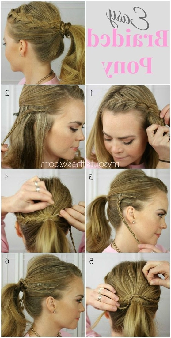 14 Braided Ponytail Hairstyles: New Ways To Style A Braid Inside Romantic Ponytail Updo Hairstyles (View 18 of 25)