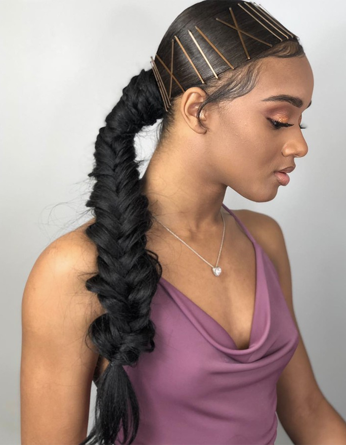 15 Braided Hairstyles You Need To Try Next | Naturallycurly Pertaining To Most Current Micro Braids In Side Fishtail Braid (View 12 of 25)