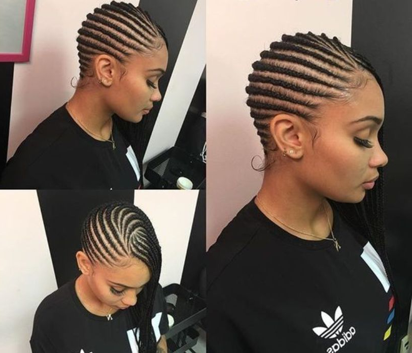 15 Lovely Ghana Braids Styles – Updos, Cornrows, Jumbo, Ponytail With Latest Side Cornrows Braided Hairstyles (View 20 of 25)