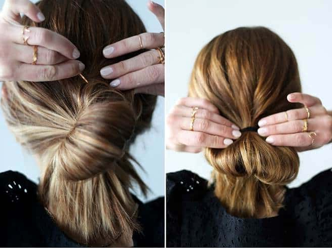 15 Low Messy Bun Hairstyles That Work For Any Hair Regarding Messy Bun Hairstyles With Double Headband (View 9 of 25)