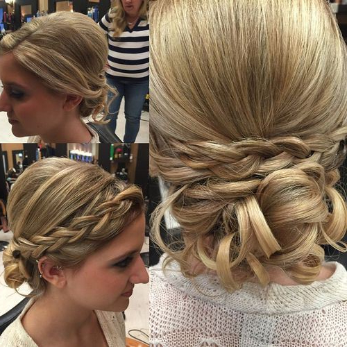 15 Unique Updos For Thin Hair For Most Current Braids And Bouffant Hairstyles (View 12 of 25)