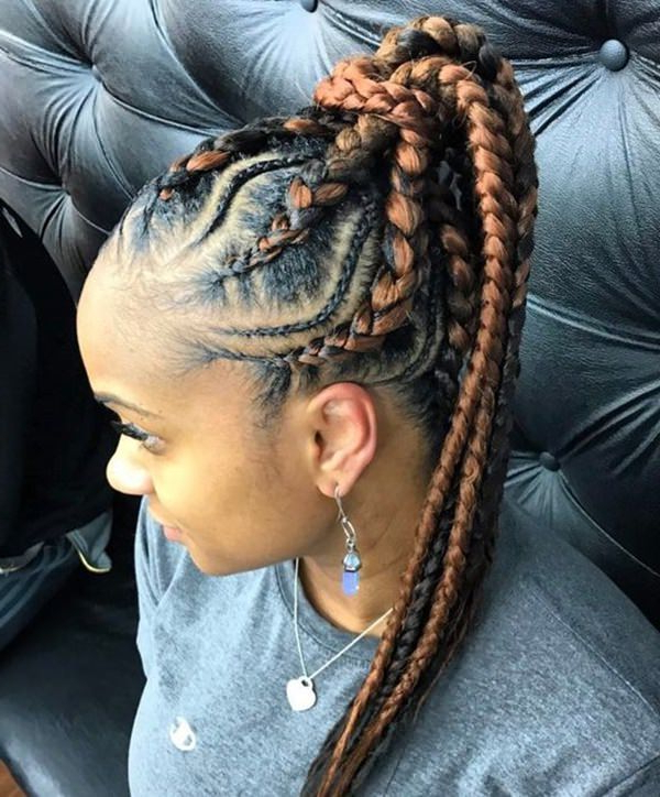 150 Stunning Braided Ponytail Hairdo For Enchanting Appearance Intended For Braided Ponytails Updo Hairstyles (View 22 of 25)