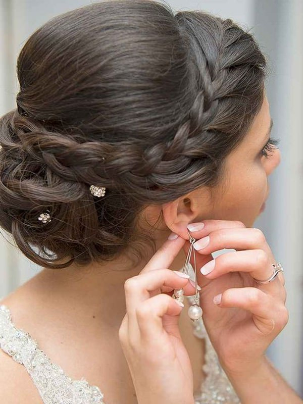 154 Updos For Long Hair Featuring Beautiful Braids And Buns Regarding Low Braided Bun Updo Hairstyles (View 14 of 25)