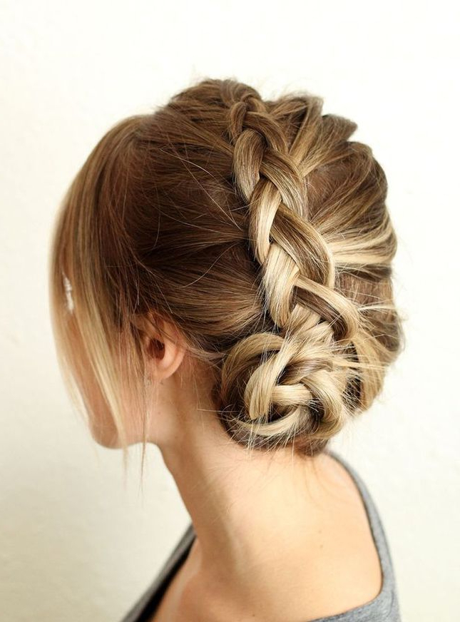 17 Stunning Dutch Braid Hairstyles With Tutorials – Pretty Within Dutch Braid Updo Hairstyles (View 6 of 25)