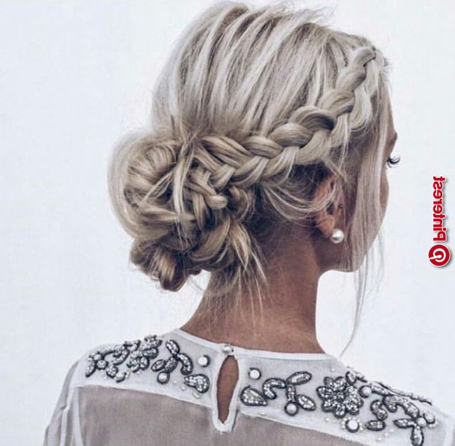 17 Stunning Low Braided Bun Hairstyle Ideas « New Hairstyle With Regard To Low Braided Bun Updo Hairstyles (View 10 of 25)