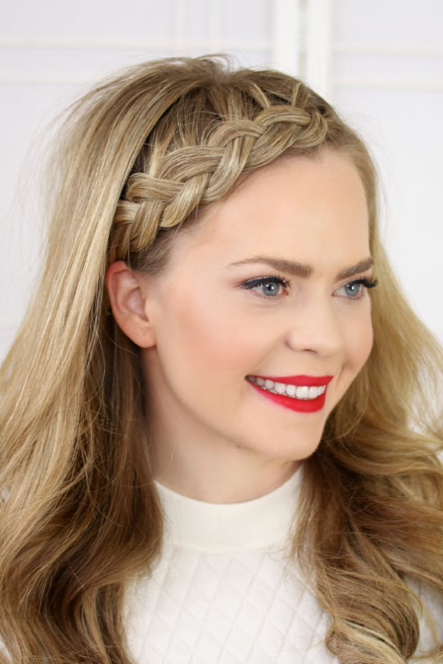 17 Ways To Make A Headband With Your Own Hair | Brit + Co Intended For Latest Headband Braided Hairstyles With Long Waves (View 7 of 25)