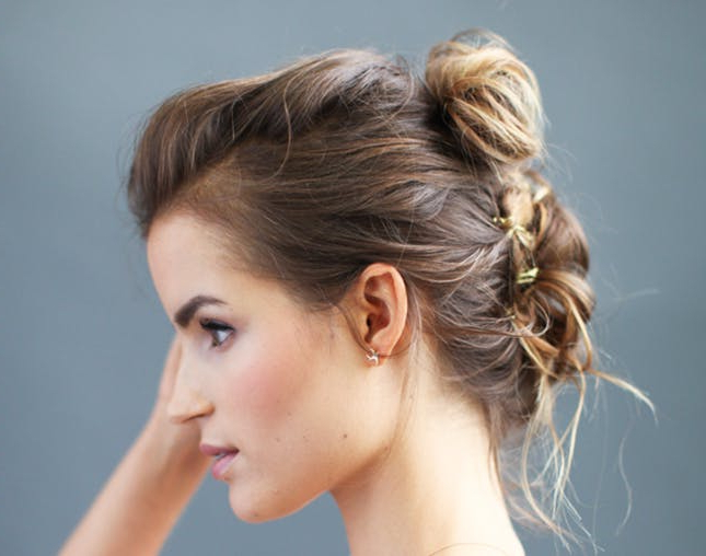18 Boho Chic Updos For Every Occasion | Brit + Co Intended For Ethereal Updo Hairstyles With Headband (View 22 of 25)