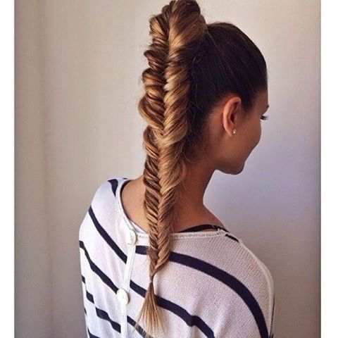 19 Fishtail Hairstyles For That Hip Look Hairstyle Monkey For Best And Newest Fishtail Braid Pontyail Hairstyles (View 7 of 25)