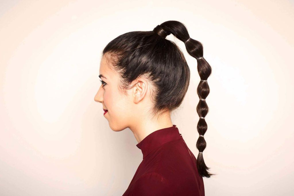 19 Trendy And Easy Updos You Can Do In A Flash With Natural Bubble Ponytail Updo Hairstyles (View 16 of 25)