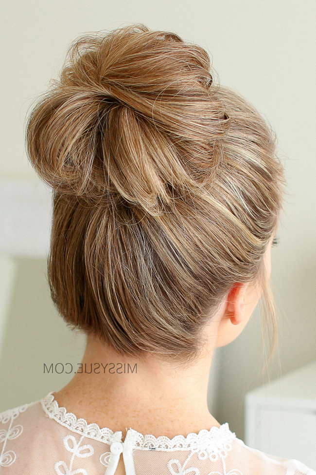 2 Easy Messy Buns | Missy Sue With Regard To Messy Bun Hairstyles (View 10 of 25)